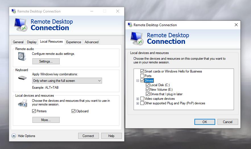 انتقال فایل از طریق RDP