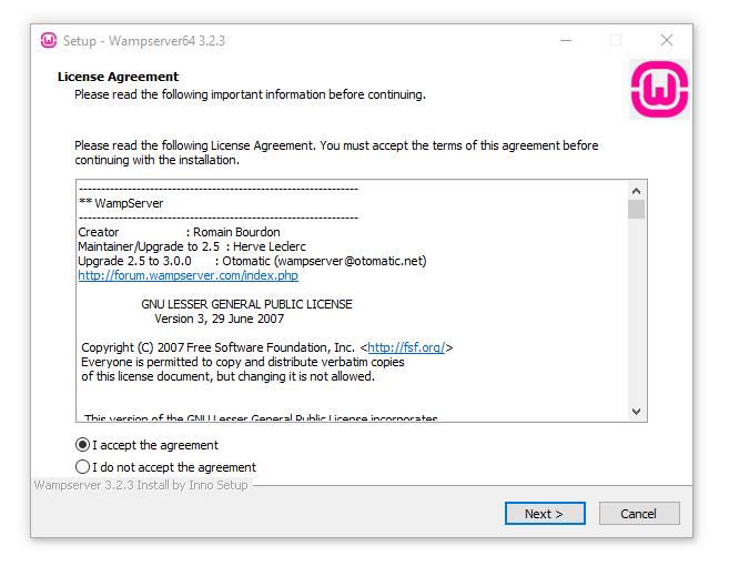 نصب WampServer در ویندوز